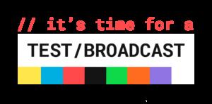QRTV Test  Broadcast Logo