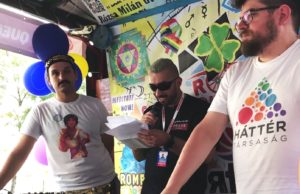 Budapest Pride - Roma LBTQI float